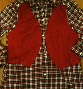 Рубашка в клетку блузка женская
