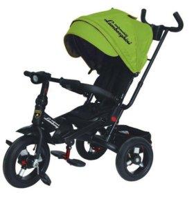 Велосипед-коляска Lamborghini L4, цвет зеленый