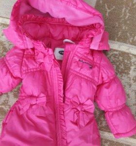 курточка на девочку 1-1.5 года