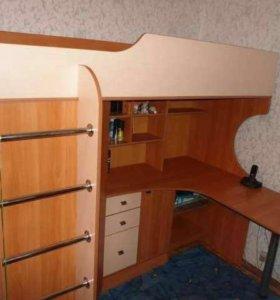 Кровать-чердак с 2 лесницами