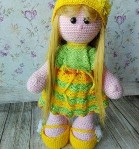Вязаная куколка Лизонька