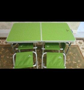 Стол + 4 стула для пикника (новый)