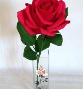 Цветы с конфетой - красная роза с Рафаэлло