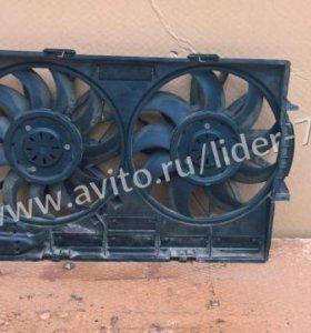 Диффузор с вентиляторами audi A8 D4 ауди А8 Д4
