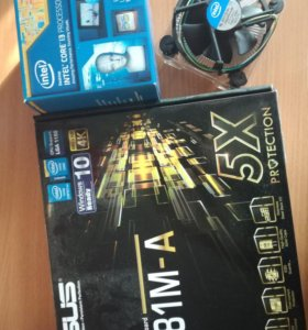Процессор intel core i3 4130+ ASUS H81M-A