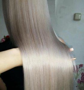 Кератиновое выпрямления волос