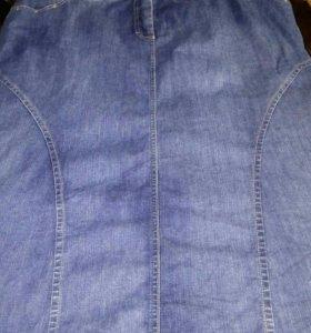 Джинсовая юбка,56-58 размер