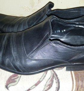 Туфли школьные кожаные 39 размер