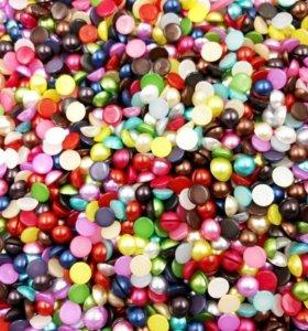 Полубусины цветные 3мм 100шт
