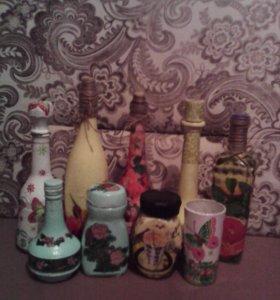 Бутылочки и банки в подарок