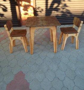 Стол стулья набор