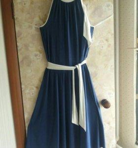 Платье из хлопка трикотажного летнее