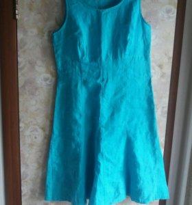 Платье льняное летнее