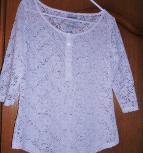 гипюровая стрейч блузка