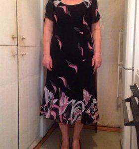 Платье с пиджаком и шарфиком