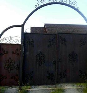 Ворота кованые(ручная работа)