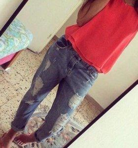 Топ и джинсы MANGO