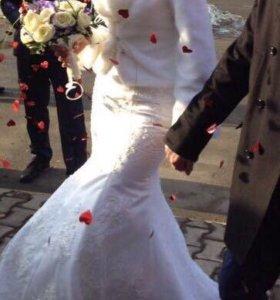 Свадебная шубка 40р (xs)