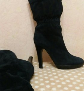 Замшевые сапоги, 35 размер