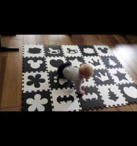 Детский мягкий пазл-коврик
