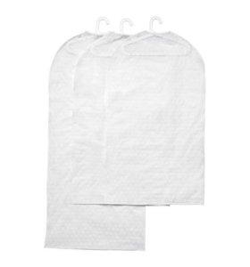 Чехлы для одежды ИКЕА 3 штуки, прозрачный белый