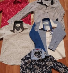 Фирменные рубашки для мальчика р от 92