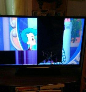 Телевизор с повреждением