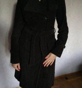 Пальто вельветовое р 44 цвет графит