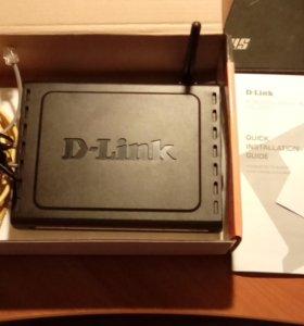Модем D-link DSL-2600U adsl2+ WiFi 802.11g LAN