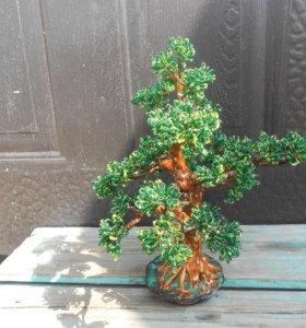 дерево из бисера бансай