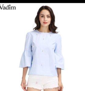 Новая блузка с бусинами