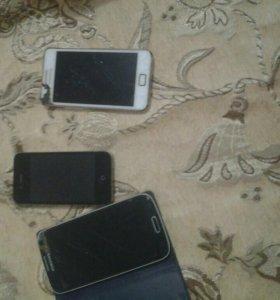 Продам 3 телефона на запчасти