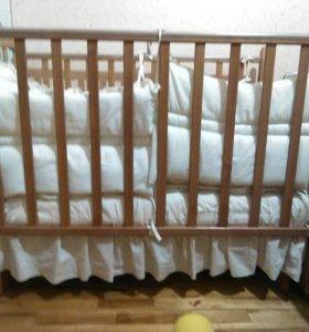 Кроватка в комплекте