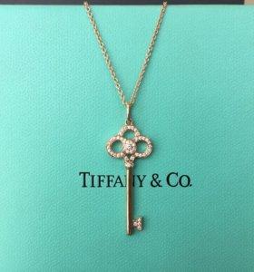 Золотая подвеска Ключик Tiffany