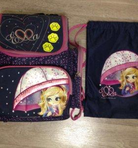 Рюкзак Maki Mar+сумка для обуви,(1-4 кл)