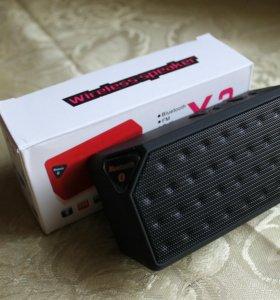 Колонка X3 Bluetooth FM USB TF чёрная