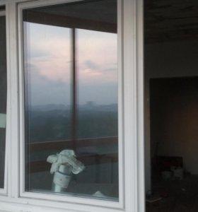 Пластиковый балконный блок (окна) б/у
