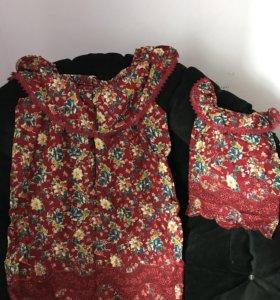 Комплект платьев для мамы и доченьки