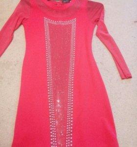 Платье яркое р 40