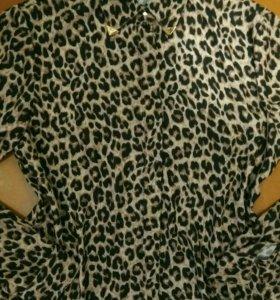 Рубашка леопардовая , блузка , кофта женская