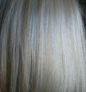 Парик натуральный.Блонд.Новый.