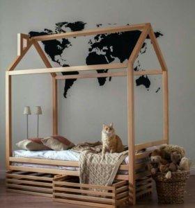 кроватка домик Монтессори