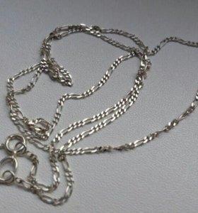 Цепочка серебряная тонкая узор