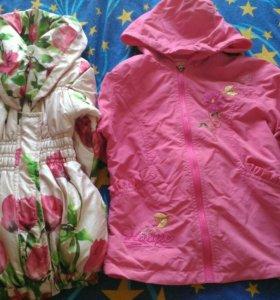 Куртки на девочку 3-4 лет