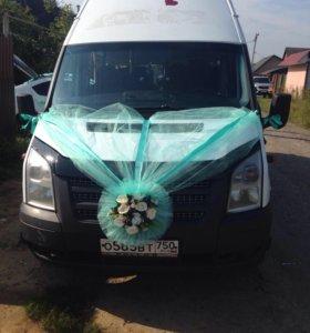 Услуги по перевозке пассажиров микроавтобусом форд