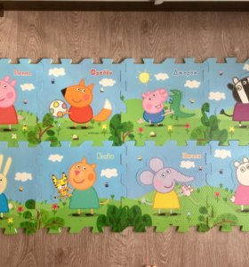 Коврик-пазл для детской комнаты Свинка Пэппа