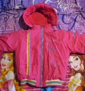 Курточка теплая, (4-5 лет)