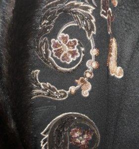 Пальто с норкой 44-46р