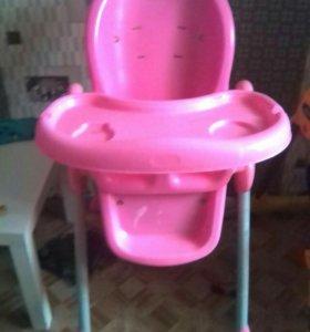 Стул для кормления розовый