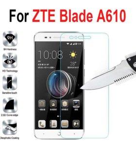 Защитное стекло 2.5D на ZTE A610, (9H+)